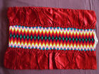 1396  Beautiful Vintage Hand Embroidered Pillow Case   21 15 54cm 38cm