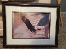 Eagle picture-Home Interior -Flag Vintage 1990s