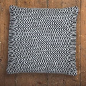 FOXFORD MERINO LAMBSWOOL FEATHER FILLED CUSHIONS -  GREY & WHITE ANIMAL PRINT