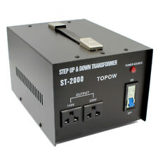 2000 Watts 110 to 220 Electrical Power Voltage Converter Transformer Heavy-Duty