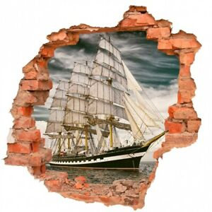 Segelschiff Schiff Meer Schifffahrt Wandtattoo Aufkleber B0787