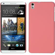 Hardcase HTC Desire 816 rubberized pink Cover + protective foils