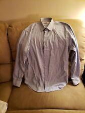 Pierre Balmain Mens Med 40 Blue Button Down Long Sleeve Dress Shirt
