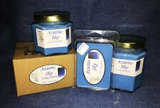 **NEW** Hand Poured Summer Scented Soy Candles Tarts & Votives - Azurite Sky