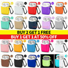 For Apple AirPods Case 1 2 Silicone Protector Shockproof Full Cover + Keychain