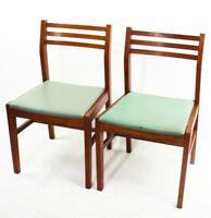 Pair of Retro Danish Style Teak Dining Chairs [5839]
