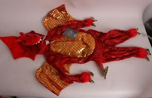 NWT Pottery Barn Kids Red Dragon baby Halloween costume, size 12-24 months 18 mo