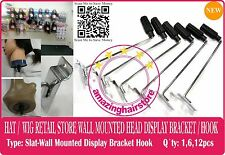 Styrofoam Head Holder Store Display Hooks Hat Wig Retail Fixture Slat Wall Mount