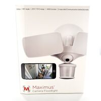Maximus Smart Motion Activated Security Camera Floodlight 1080p HD WIFI