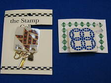 Double Ring Quilts Folk Art Sewing 2 2 Lot Quilt Pin Jewelry Stamp Quilter Gift
