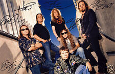 IRON MAIDEN AUTOGRAPH SIGNED PP PHOTO POSTER