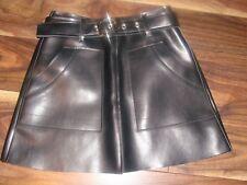 Style Nanda Korea Stella Berry Black Mini Rubber/PVC Leather Skirt Size XS New