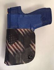 SMITH & WESSON SHIELD RH IWB AMERICAN FLAG KYDEX HOLSTER ADJUSTABLE M&P S&W 9 40
