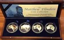 4x1oz silver Matthew flinders coin collection