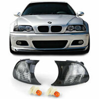 Blinker Schwarz Smoke Kristall Optik für BMW 3er E46 Coupe Cabrio 98-01