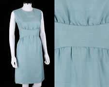 Vtg 1960s Donald Brooks Light Blue Mod Sleeveless Sheath Dress Sz Xs / S