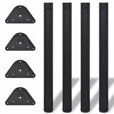 TTQuattro piedi di tavolo in acciaio inox cromati regolabile Ø 60mm 710mm Gambe
