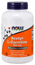 NOW® Acetyl L-Carnitine, 500 mg, 200 Veg Capsules