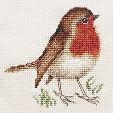 ROBIN REDBREAST, Christmas, Bird  * Full counted cross stitch kit + materials