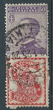 1924-25 REGNO USATO PUBBLICITARIO SINGER 50 CENT - RR13918-2