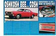1968 DODGE HEMI SUPER BEE  ~  NICE 4-PAGE ARTICLE / AD