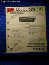 Sony Service Manual XR 5150 /5151 /5152 Car Stereo (#3736)