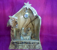 Christmas gift -Nativity scene Holy land Handmade olivewood Unique item