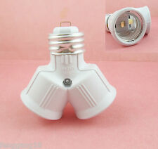 1pcs E27 to 2 E27 Screw Base Light Lamp Bulb Socket LED Split Adapter Converter