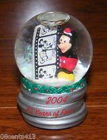 "Walt Disney World 2004 75 Years of Fun Mickey Mouse 2 1/2"" Tall Snow Globe *READ"