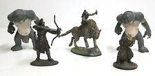 5 Figurines en métal - Orcs  Wharg Trolls Urukaï - Seigneur des Anneaux NLP 2005