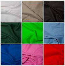 Canvas 100% Cotton Fabric - Solid Colour - 260GSM, 146cm, By The Quarter & Metre