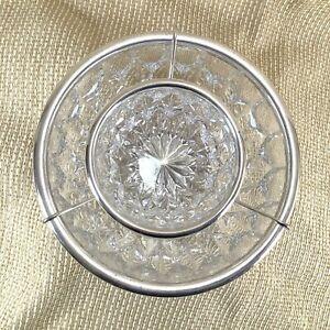 Vintage Christofle Caviar Serving Bowl Set Glass Crystal Ice Dish Mid Century
