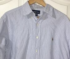 Ralph Lauren Polo Men Dress Shirt Lot Yarmouth 16-35 Long Sleeve Blue Stripe