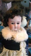 """Antique Bisque Head Armand Marseille Doll Germany 390 A.9 M Composition Body 24"""""""