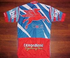 Made in USA ExxonMobil BPMS 150 Team Full Zipper Cycling Jersey XS