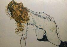 "Egon Schiele "" Portrait Of Woman Blonde "", 42x31 Lithography - 1911 - Signed"