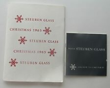 Steuben Glass Catalog For Christmas 1963 & Steuben Glass & How To Care For It