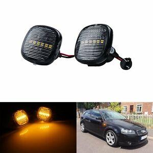2x Pour Audi A3 A4 A8 Seat Ibiza Skoda LED Repetiteur Indicateur Côté Clignotant