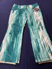 NWT Under Armour STORM 3 Snowboard Ski Pants - Women's XL- Green Print