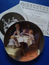 "New ListingNorman Rockwell Knowles Collector Plate ""The Gourmet"" In Original Box New"