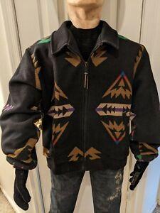 Vintage 70s 80s Pendleton High Grade Western Wear Aztec Wool USA Jacket Size XL