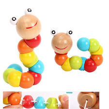 USA STORAGE Kids Baby Girl Boy Wooden Toys Educational Toy Worm Sensory Toy Gift