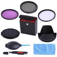 72MM UV CPL FLD Filter Kit Lens Hood Cap for Canon 15-85mm 28-135mm 18-200mm SLR