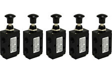 5x Hand Push Pull Pneumatic Air Control Valve 3 Port 3 Way 2 Position 1/4