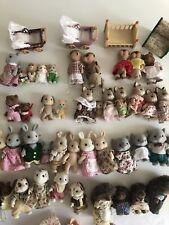 Sylvanian Families Huge Lot Rabbit Meerkat Elephant Cat Dog Hedgehog Accessories