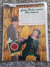 Vintage Lucky Strike Tobacco Cigarettes Advertisement