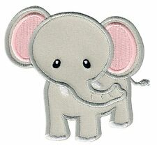 Elephant Iron On Embroidered Applique Patch - Kids / Baby / PatchMommy®