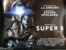 SUPER 8  2011 CINEMA QUAD POSTER J J ABRAMS STEVEN SPIELBERG ELLE FANNING