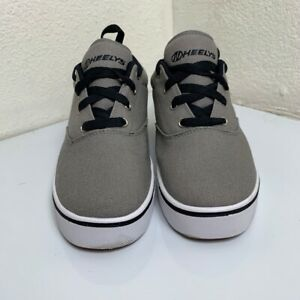 Heelys Unisex Kids Launch Skate Shoes Gray 77017 Rollers Lace Up Low Top 8M