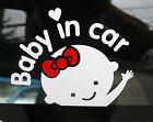 Baby In Car New Quote Decal Vinyl Wall Sticker Kids Art DIY Varies Car Models